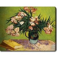 Vincent van Gogh 'Oleanders' Oil on Canvas Art