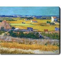 Vincent van Gogh 'The Harvest' Oil on Canvas Art - Multi