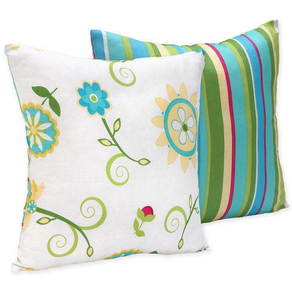 Sweet Jojo Designs Layla Turquoise And Lime 16 Inch