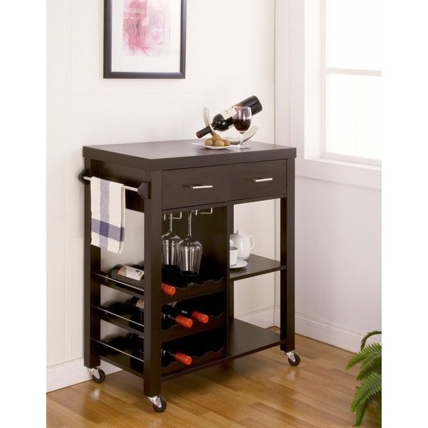 Overstock Bar: Furniture Of America Stewardee Contemporary Mobile Kitchen