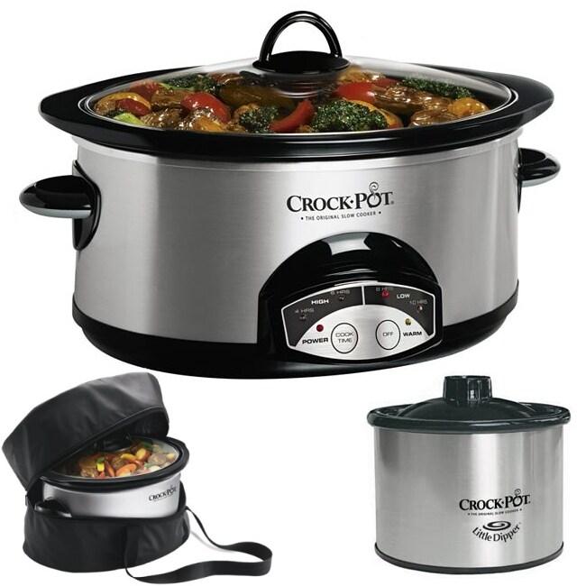 Crock Pot 6 Qt Oval Programmable Slow Cooker With Little