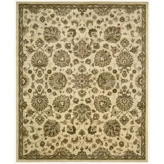 Hand Tufted Floral Wool Rug 9 6 X 13 6 13919713