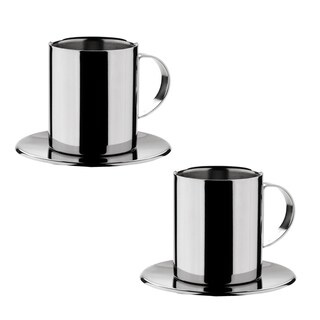 Miu France Stainless Steel Cappuccino Cups (Set of 2)