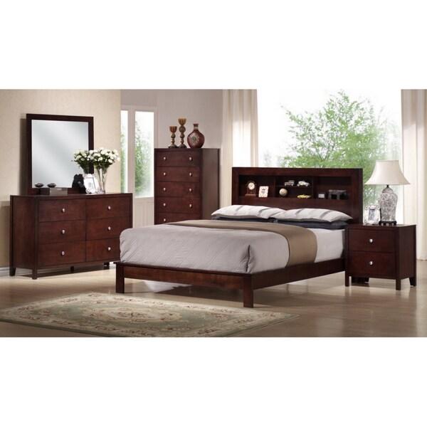 Montana King 5-piece Mahogany Brown Wood Modern Bedroom