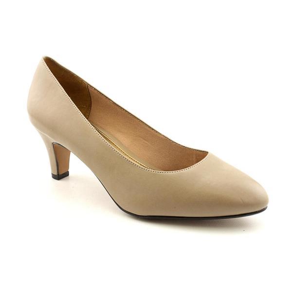 Wide Slip On Low Heel Dress Shoes