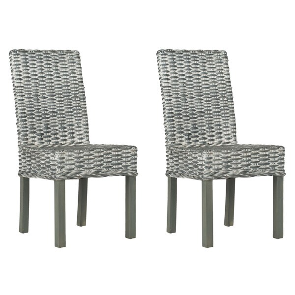 Safavieh Rural Woven Dining Wheatley Grey Washed Wicker