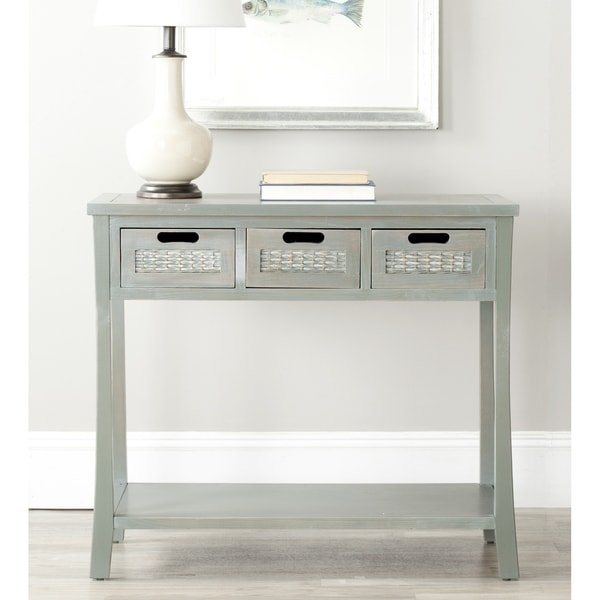 Safavieh Autumn Blue Grey 3 Drawer Console Table