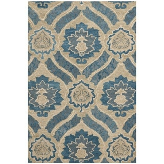 Safavieh Handmade Wyndham Blue New Zealand Wool Rug 7