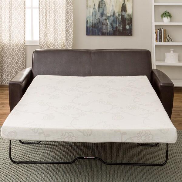 Innerspace 4 5 Inch Queen Wide Memory Foam Sofa Sleeper