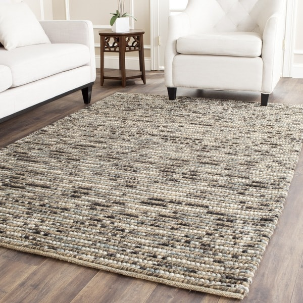 Safavieh Hand Knotted Vegetable Dye Chunky Blue Hemp Rug