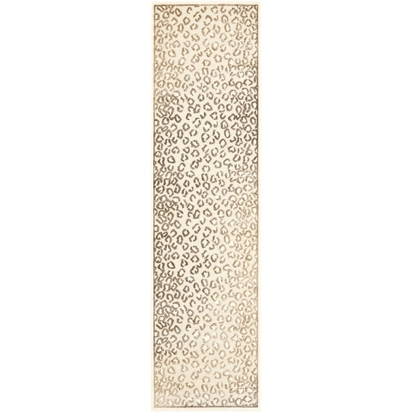 Safavieh Paradise Leopard Cream Viscose Rug (2' 2 X 8