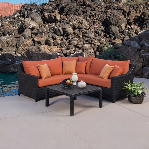 Rst Outdoor Tikka 4 Piece Corner Sectional Sofa And
