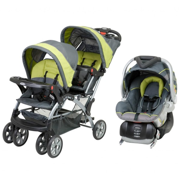 Baby Trend Sit N Stand Double Stroller Pistachio: Baby Trend 'Sit N Stand' Double Stroller Travel System In