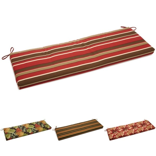 Blazing Needles Tropical Stripe Outdoor 3 Seat Bench