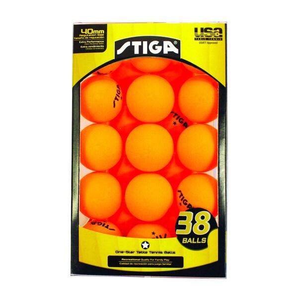 Stiga Onestar Orange Table Tennis Balls Pack Of 38 image