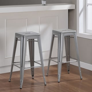Tabouret 30 Inch Perforated Steel Barstools Set Of 2