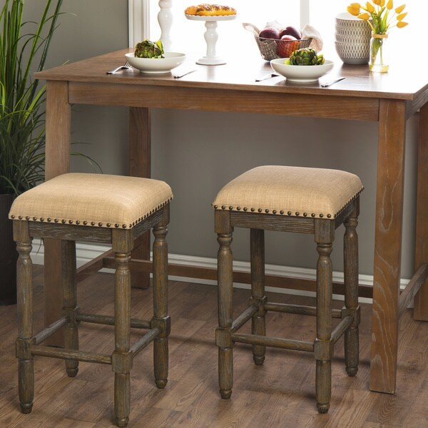 Renate Linen Counter Stools Set Of 2 15072614