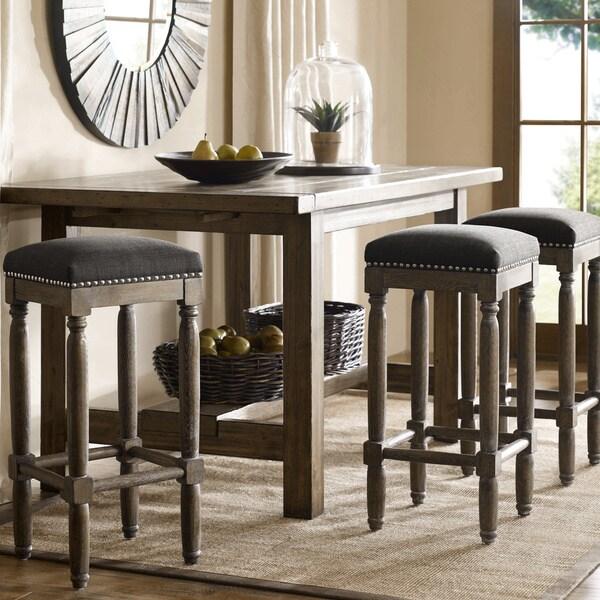 Renate Grey Bar Stools Set Of 2 15072617 Overstock