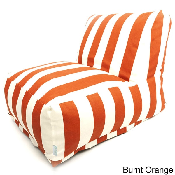 Indoor Outdoor Vertical Stripe Bean Bag Chair Lounger
