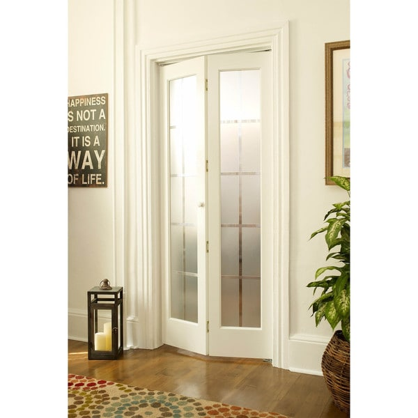 American Wood Mission Frosted Bi Fold Door Free Shipping Today