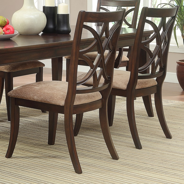 Tribecca Home Acton Warm Merlot X Back Casual Dining Side: TRIBECCA HOME Cheshire Rich Espresso Traditional Dining