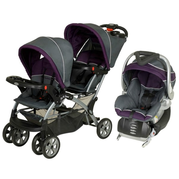 Baby Trend Sit N Stand Double Stroller Travel System In