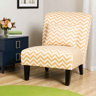 Marvelous Anna French Yellow Chevron Fabric Accent Chair Buy Cheap Ocoug Best Dining Table And Chair Ideas Images Ocougorg