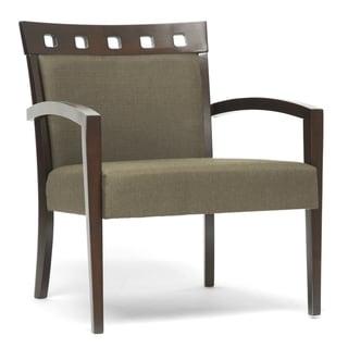Baxton Studio Jennifer Dark Brown Wood Modern Lounge Chair