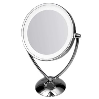Danielle 1x 10x Chrome Revolving Lighted Mirror 12647422