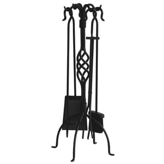 Blue Rhino Black Cast Iron Deluxe Log Holder 14518603