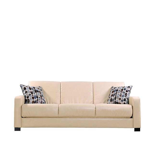 Pleasing Portfolio Trace Convert A Couch Almond Renu Leather Futon Frankydiablos Diy Chair Ideas Frankydiabloscom