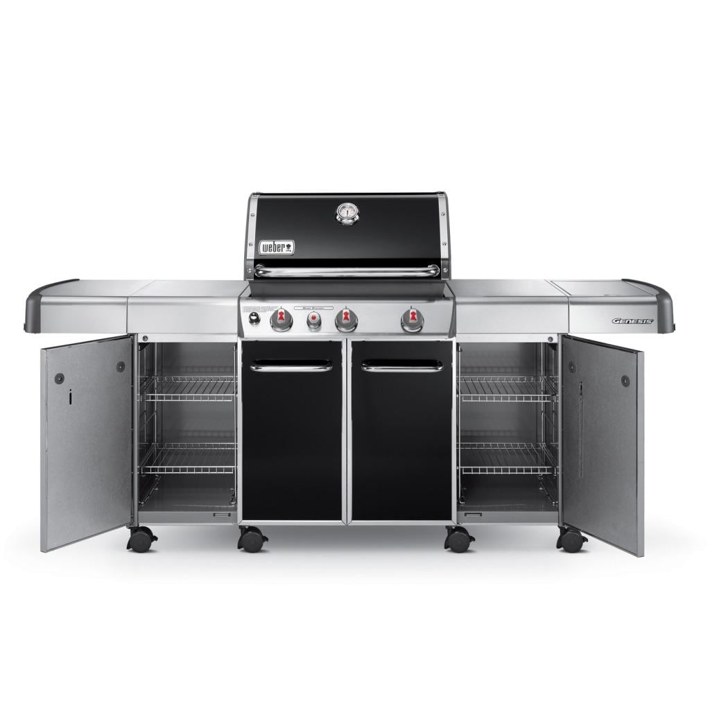 Grill Cabinet: Weber Genesis Grill Black Center Accessory Cabinets