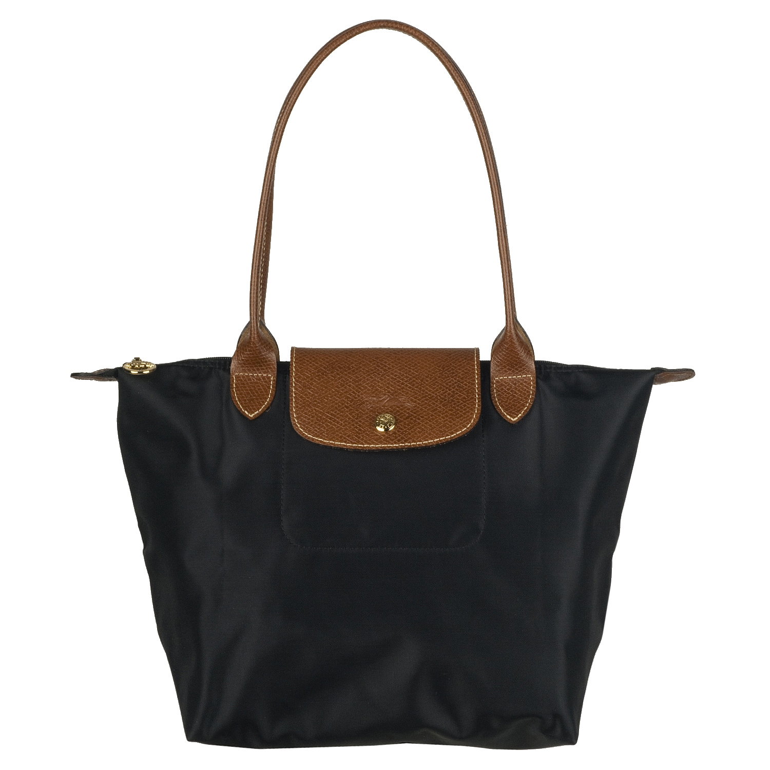 d027653ab48f Black Nylon Tote Bag Brown Leather Handles | Stanford Center for ...