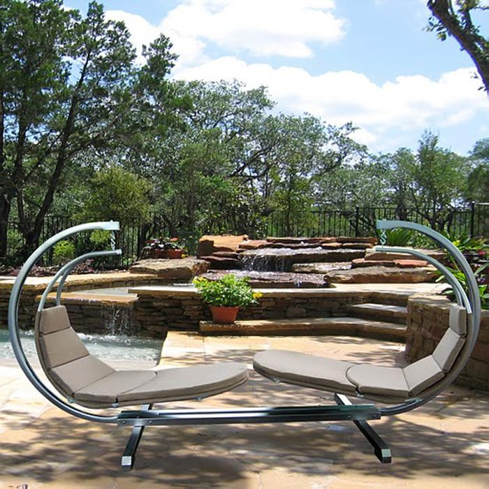 Casimir Outdoor Hanging Chaise Lounge Set 13824741