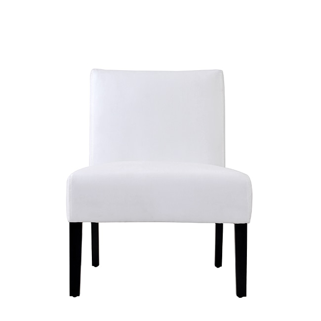 Niles White Microfiber Armless Chair 13826934