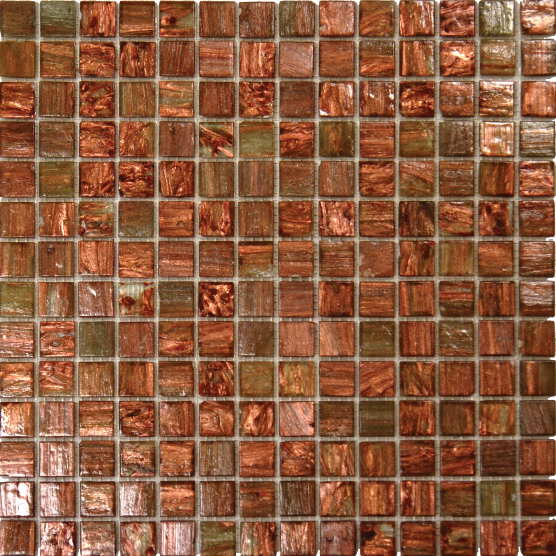 Light Brown Iridescent Glass Mosaic Tile Case Of 20