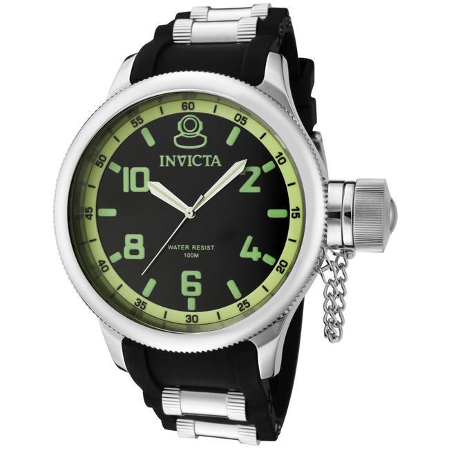 2680650fbef Invicta Russian Diver 1959 Mens Black Strap Watch on PopScreen