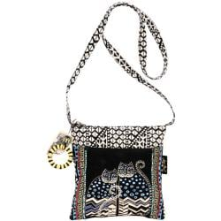 Laurel Burch Crossbody Tote- Spotted Cats.