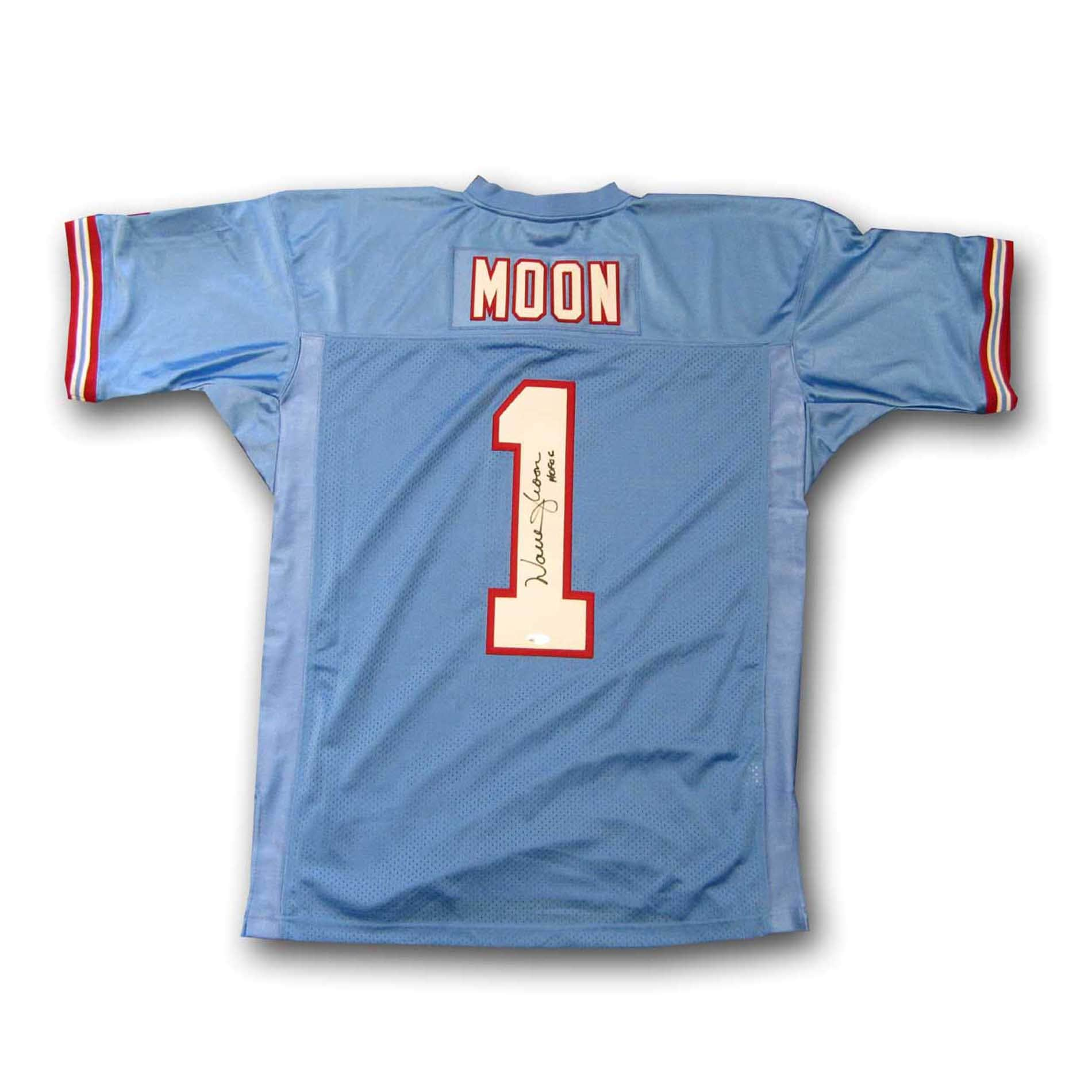 254469fa Warren Moon Houston Oilers Mitchell and Ness Autographed Jersey on ...