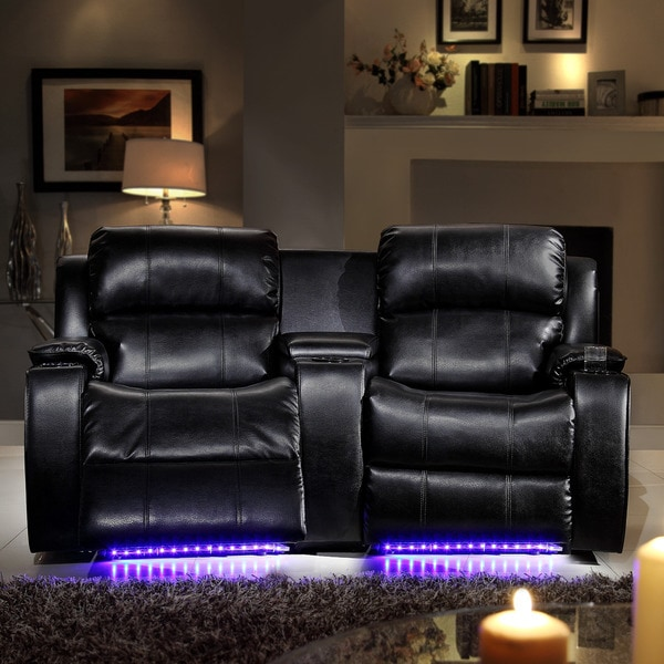 Garrett Led Lighted Massager Cooler 2 Seater Theater