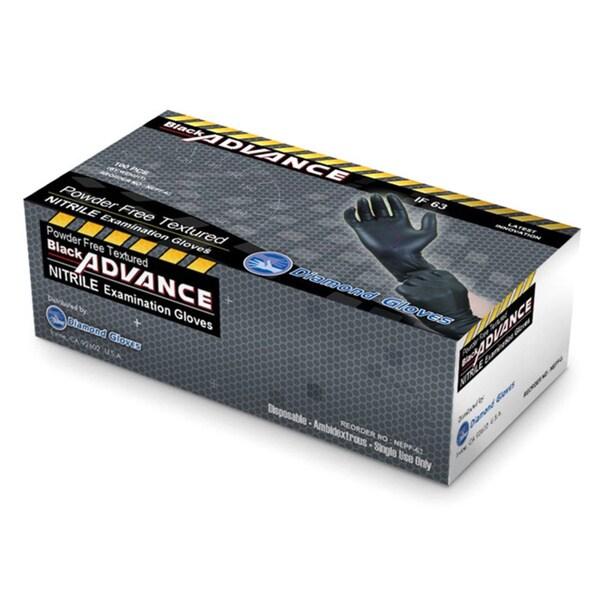 Black Advance Nitrile Examination Powder Free Heavy Duty 6