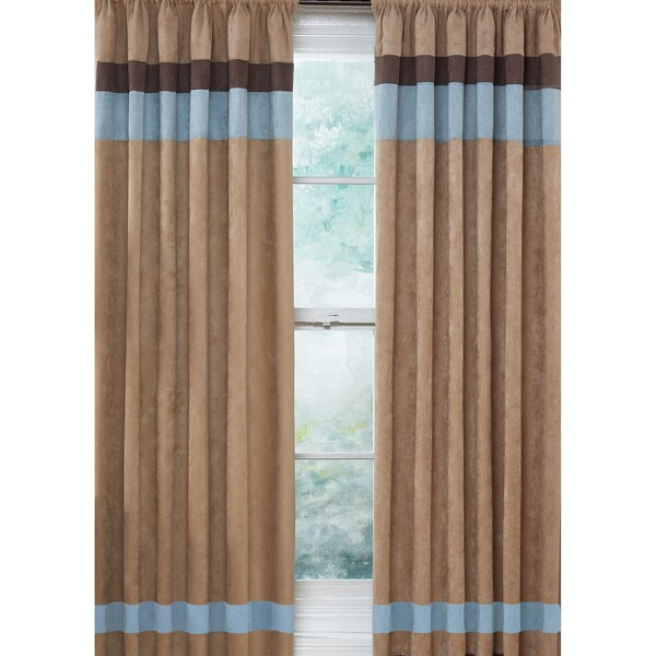Blue And Tan Curtains: Sweet Jojo Designs Sky Blue, Chocolate Brown And Camel 84