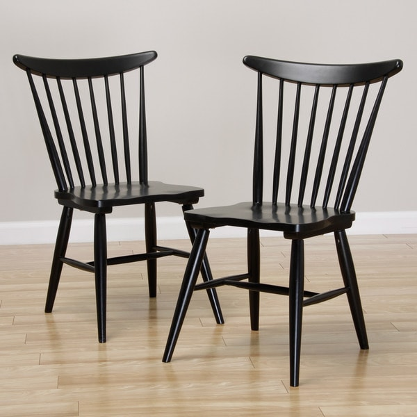 Dining Chairs Deals: Sterling Windsor Soft Black Dining Chair (set Of 2