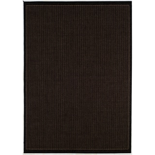 Nuloom Handmade Flatweave Diamond Black Cotton Rug 9 X