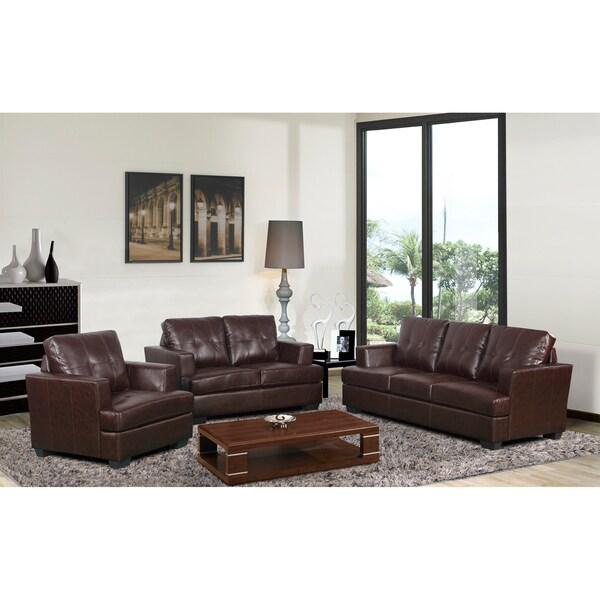 Nova brown living room set 15118041 overstock com shopping big