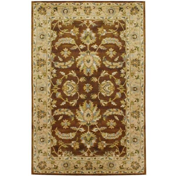 Herat Oriental Indo Hand-tufted Mahal Wool Rug - 5' x 8'