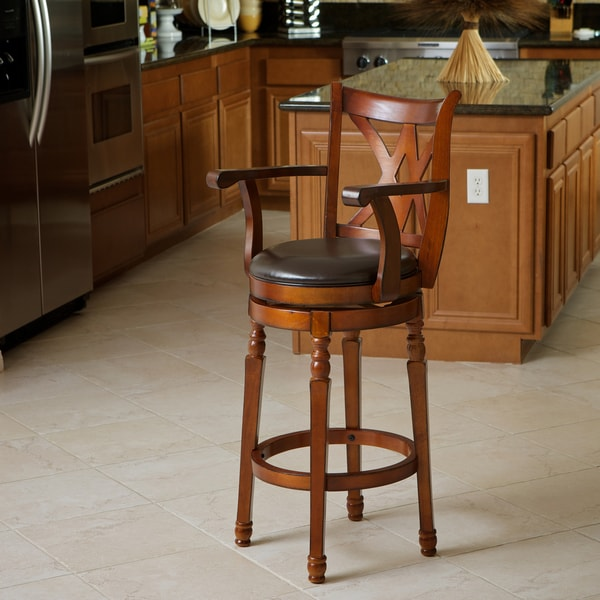 Christopher Knight Home Eclipse Brown Armed Swivel