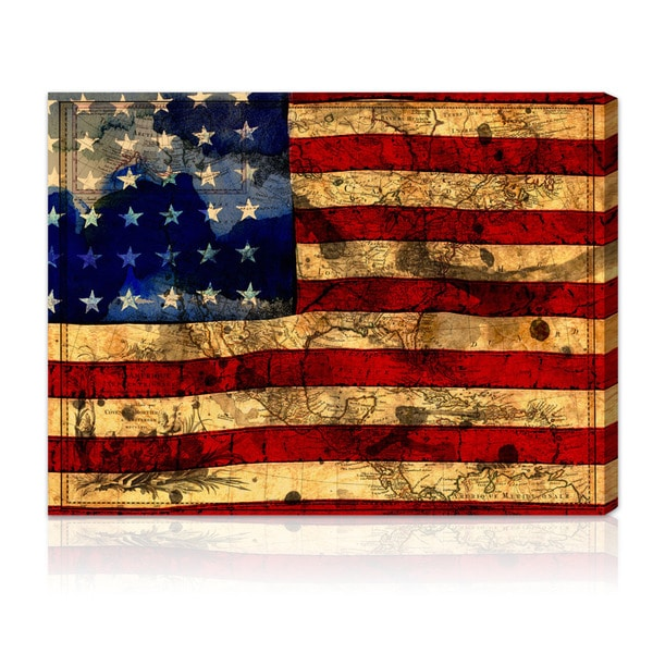 Oliver Gal Artist Co The Flag Gallery Wrapped Canvas