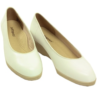 Softspots Women S Stephanie White Leather Comfort Shoes