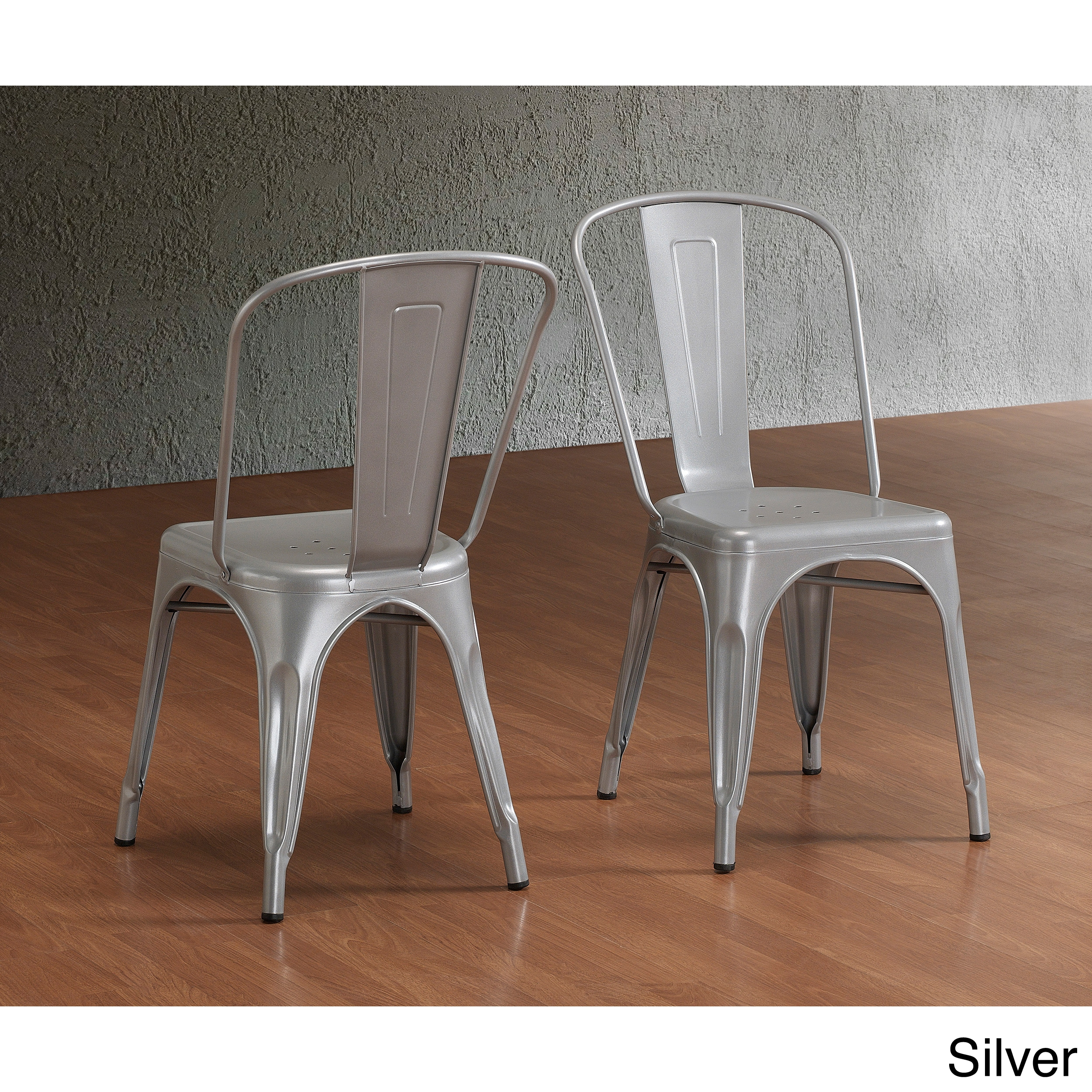 Overstock Dining Chairs: Tabouret Bistro Steel Side Chairs (Set Of 2)